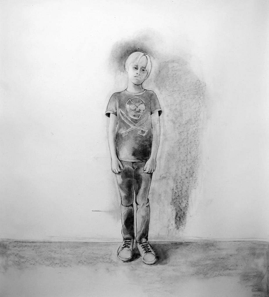Porträtt i kol 150 X 110 cm