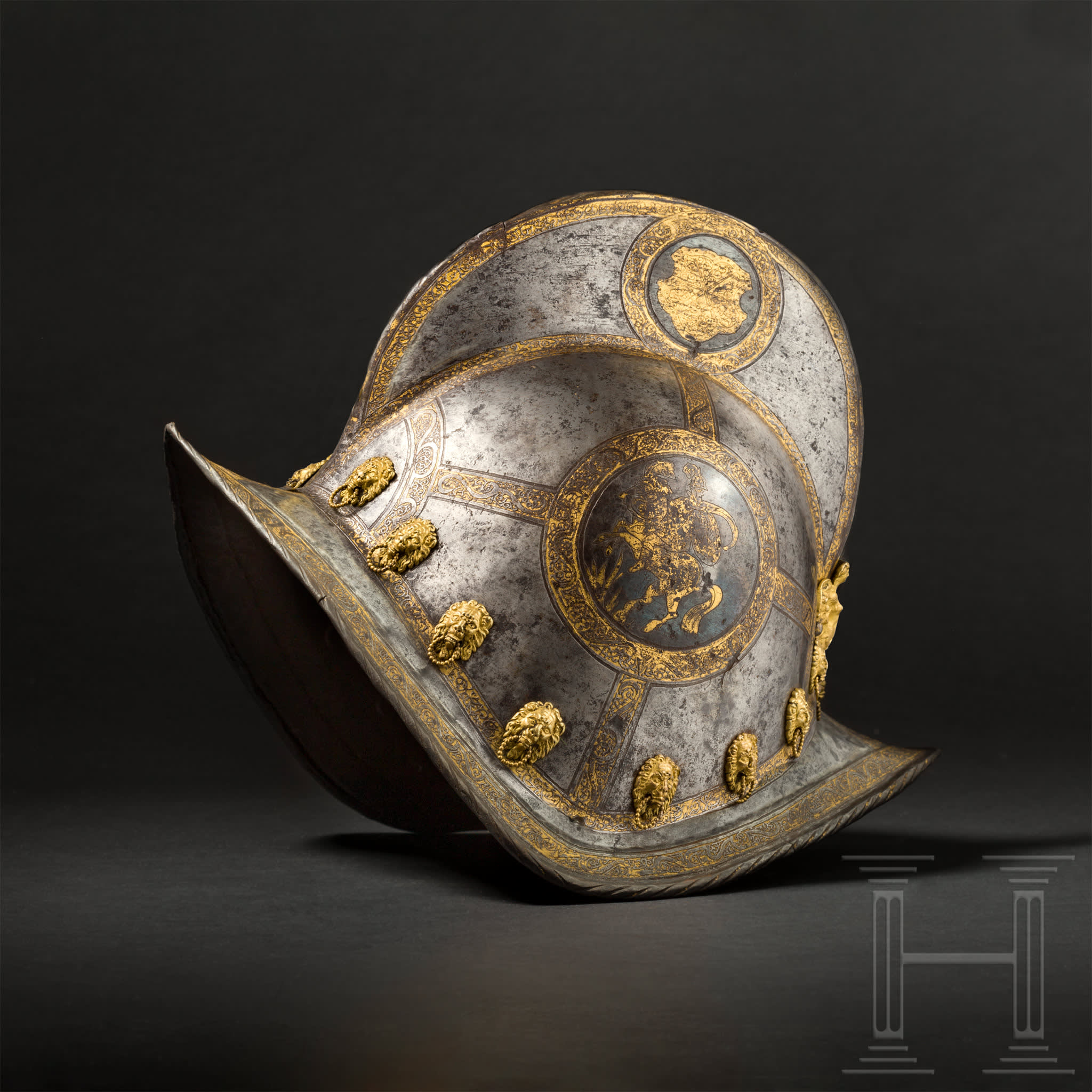 Etched and Gilded Morion, end of the 16th century. Photo: Hermann Historica