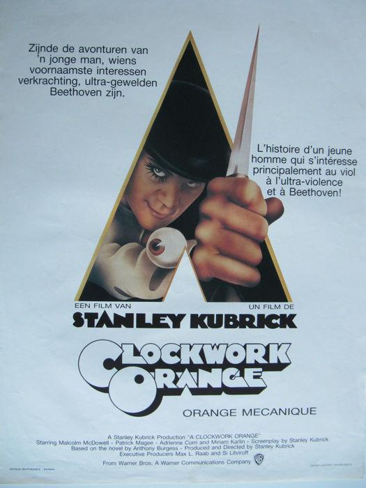 A Clockwork Orange (Stanley Kubrick). Película de Terror (1971)