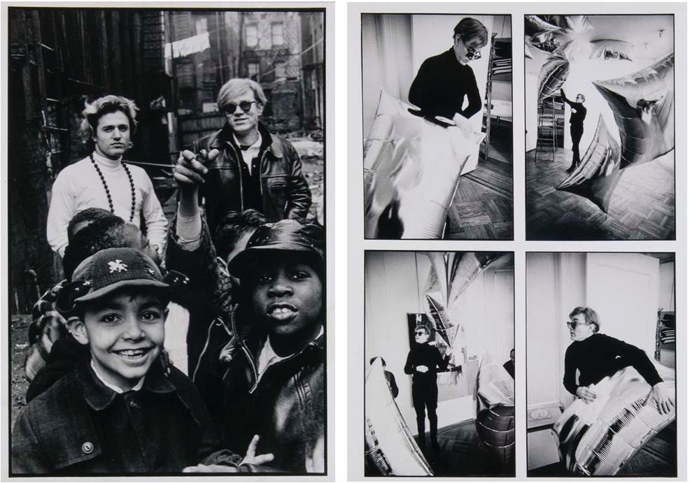 NAT FINKELSTEIN (1933 Brooklyn - 2009 Shandaken) Links: Andy Warhol, Silbergelatineabzug, nummeriert und signiert, 1989 Rechts: Andy Warhol, Silbergelatineabzug, nummeriert und signiert, 1989