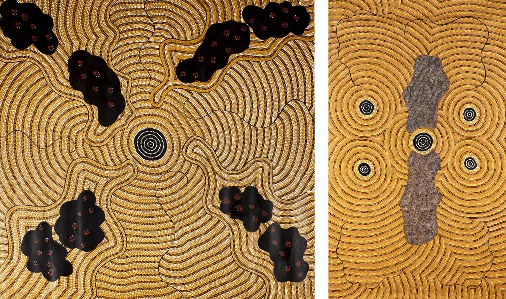 William Sandy - Gauche : Sans Titre, 1990 / Droite : « Emu Dreaming », 1990