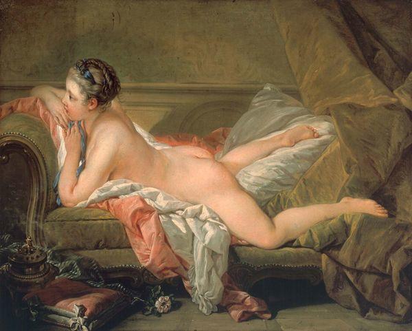 François Boucher - Portrait présumé de Marie-Louise O'Murphy, 1752 Image: Munich, Alte Pinakothek