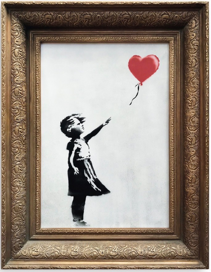 Banksy, Girl With Red Baloon, 2006. Immagine © Sotheby's