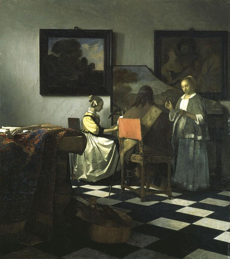 Il concerto, Johannes Vermeer, olio su tela, 1664.