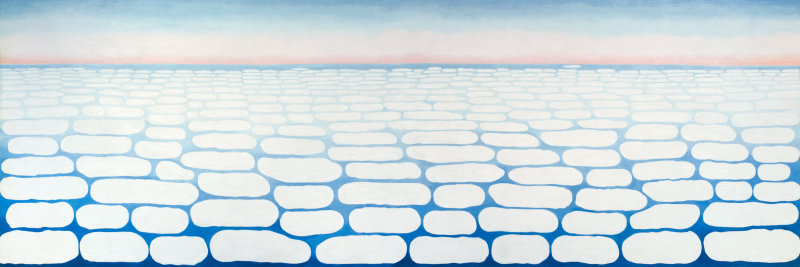 Georgia O'Keeffe Sky Above Clouds IV, 1965 © The Art Institute of Chicago