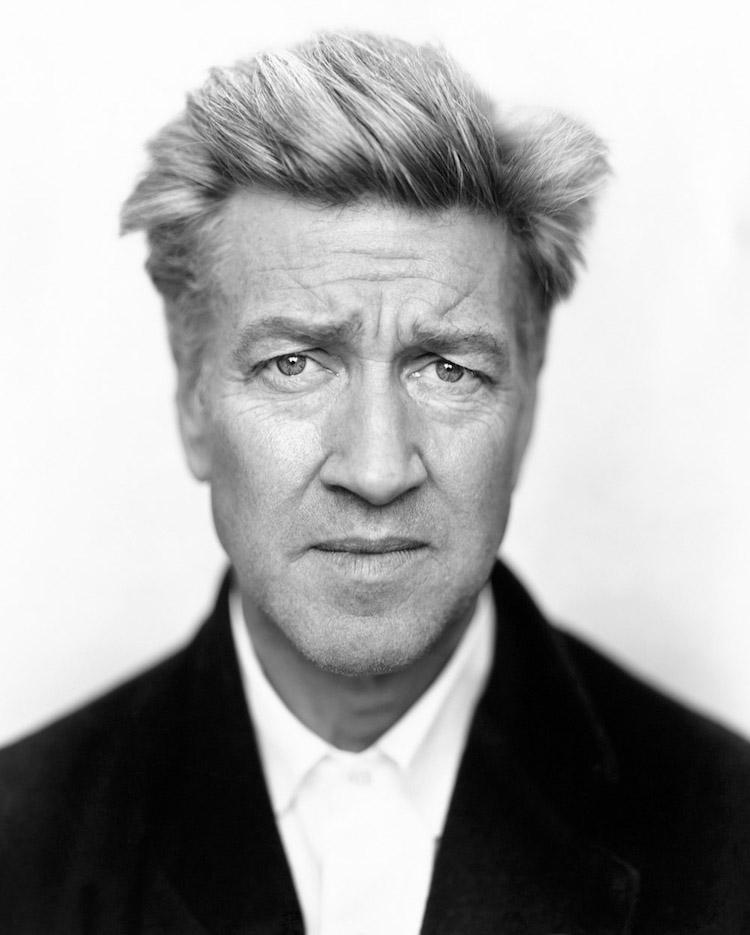 David Lynch är fotograferad med den klassiska storformatskameran SINAR P2 inför premiären av the Straight Story