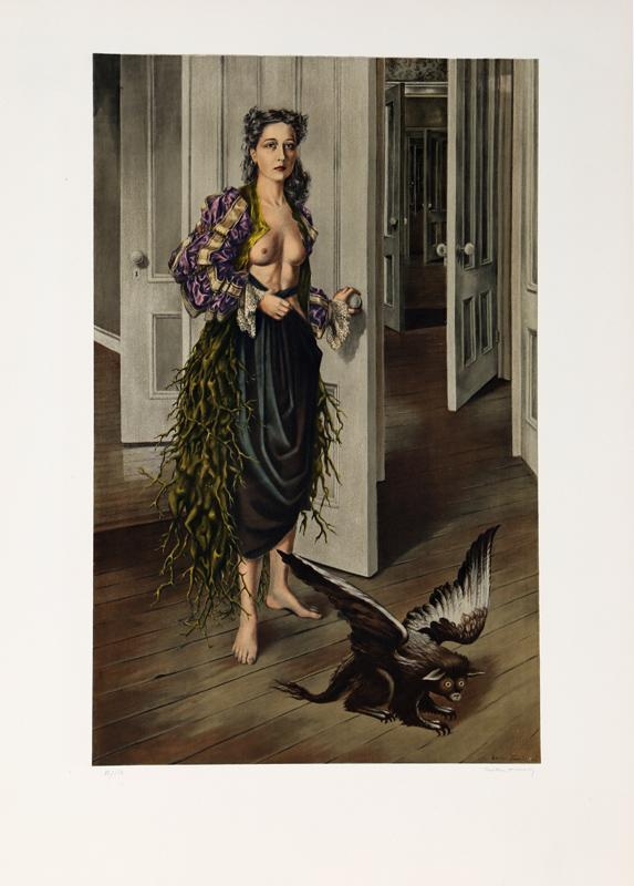 Dorothea Tanning, Birthday (Self Portrait at age 30, 1942)circa 1970, lithograph on arches, signed and numbered in pencil, edition: 150