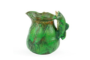 A Weller Coppertone fish pitcher