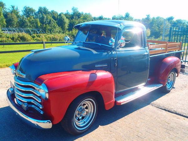CHEVROLET - Pick-up Truck 3100 Stepside Modell - 1950. Utropspris: 380 000 - 495 000 kronor.