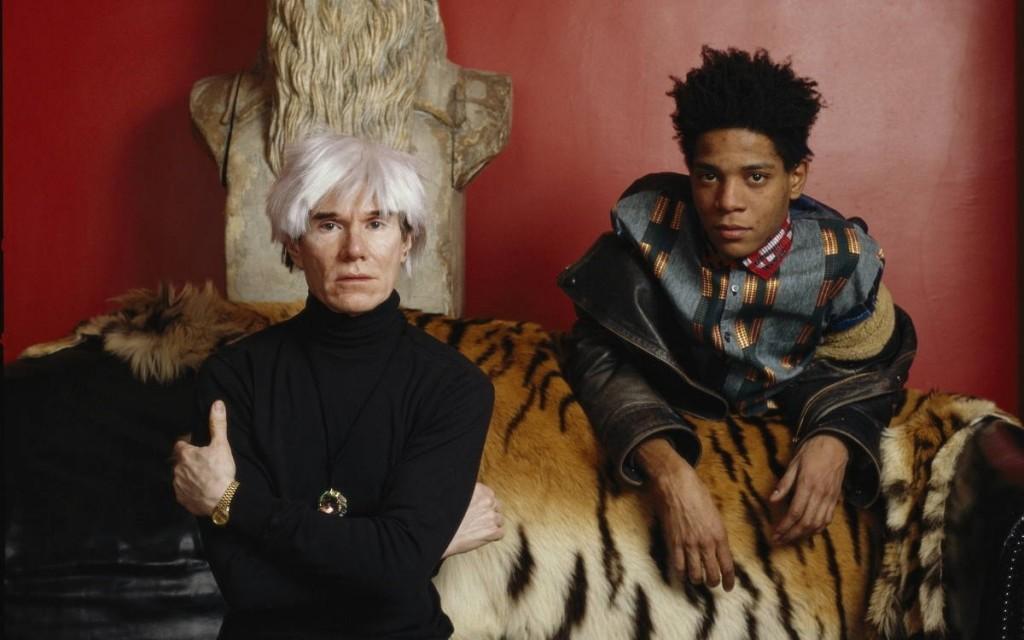 Jean-Michel Basquiat et Andy Warhol photographiés par Lizzie-Himmel, image via Widewalls