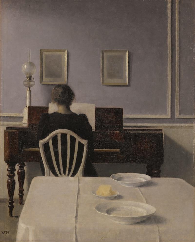 Hammershoi, Interior with Woman at Piano