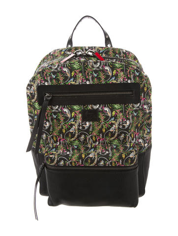 Christian Louboutin Aliosha leather-trimmed backpackThe RealReal