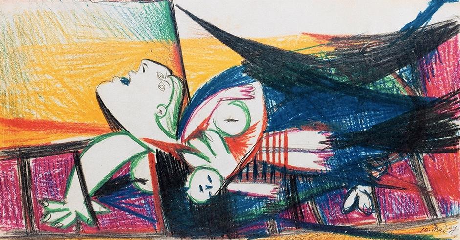 Nach PABLO PICASSO (1881 Málaga - 1973 Mougins) - Picasso. Guernica. Die Skizzen auf Papier, Paris 1990 Taxe: 400 EUR
