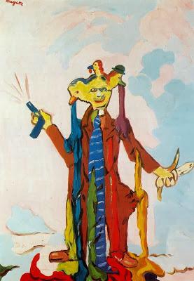 René Magritte « The Pictorial Content », 1947, période « vache », image via weimarart.blogspot