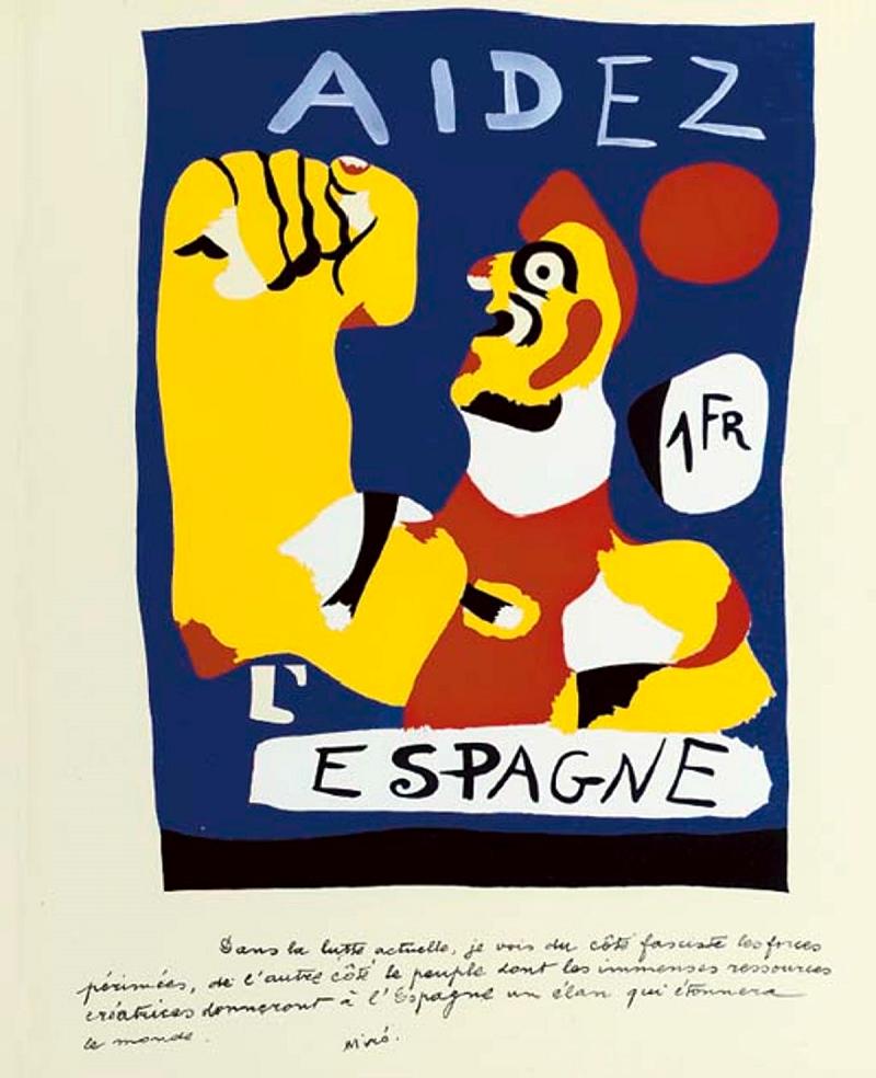 JOAN MIRÓ, Aidez l'Espagne, (1937), image ©Christie's