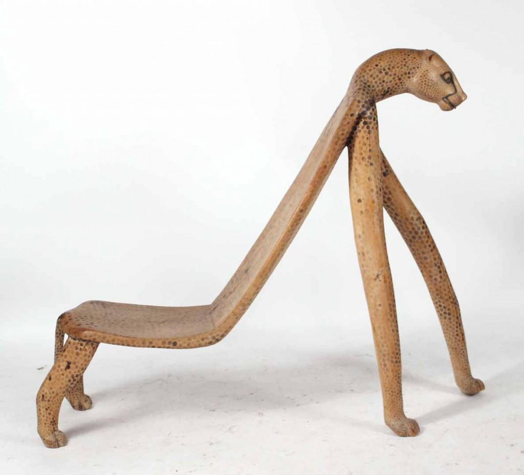Cheetah form chair