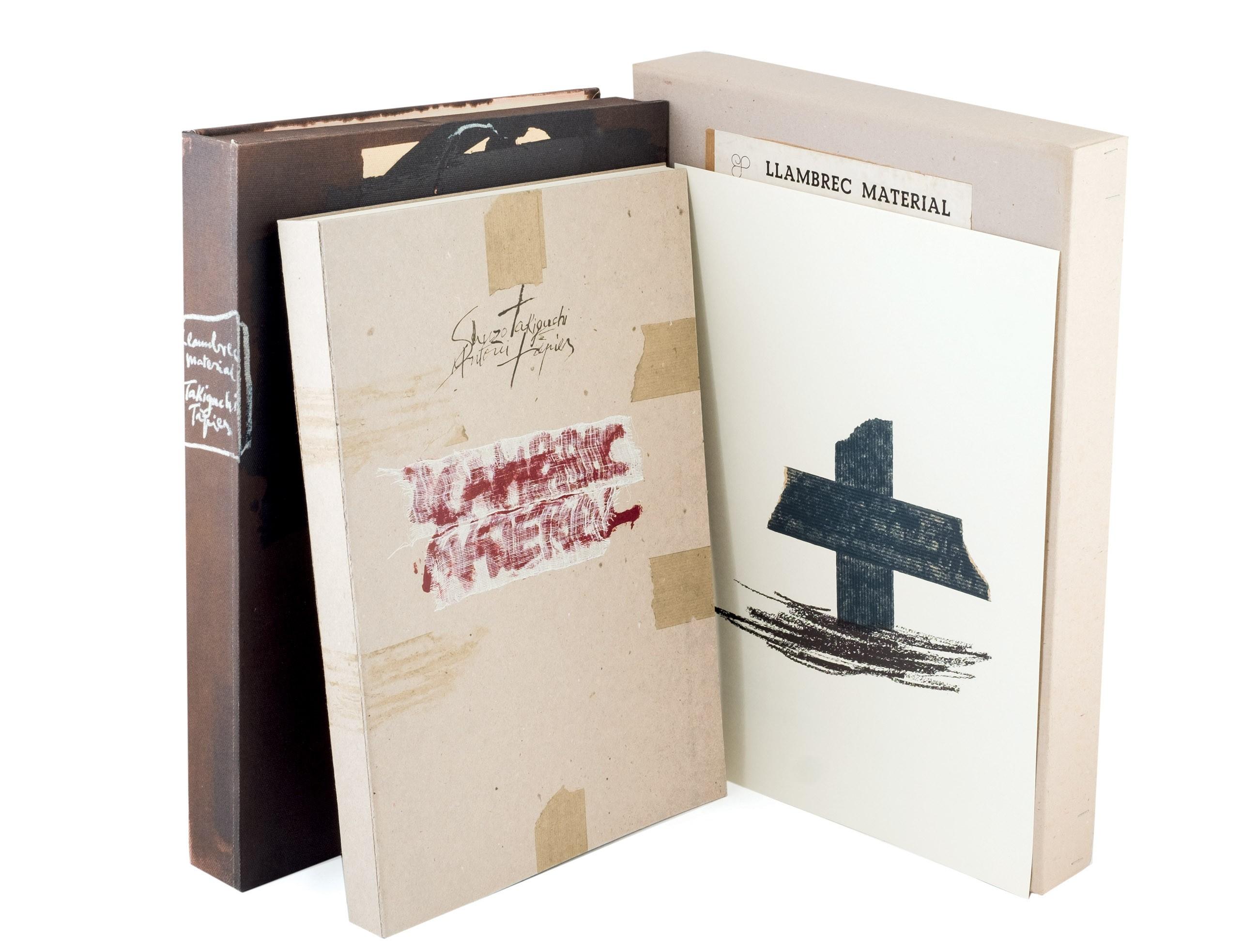 'Llambrec Material', book, 1957. Illustrations by Tàpies and poems by Shuzo Takiguchi. Photo: Durán Arte y Subastas