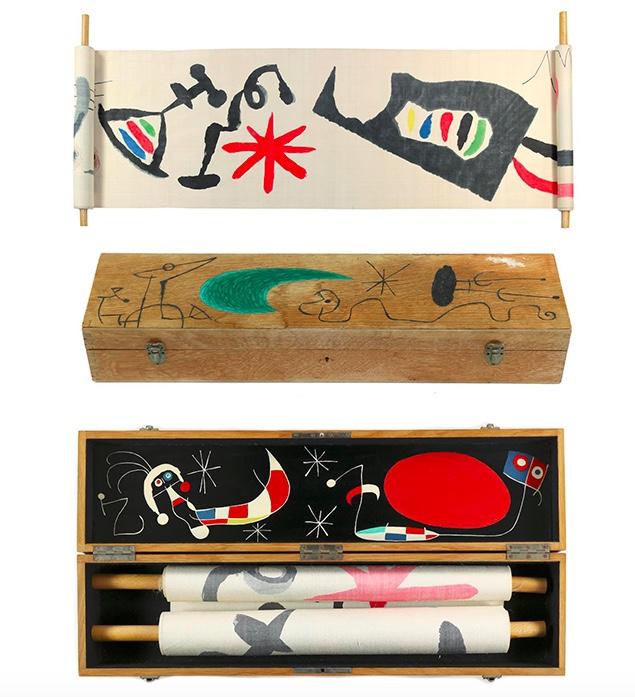 Joan Miró (1893 Barcelona - 1983 Mallorca), Makemono, ca. 1956