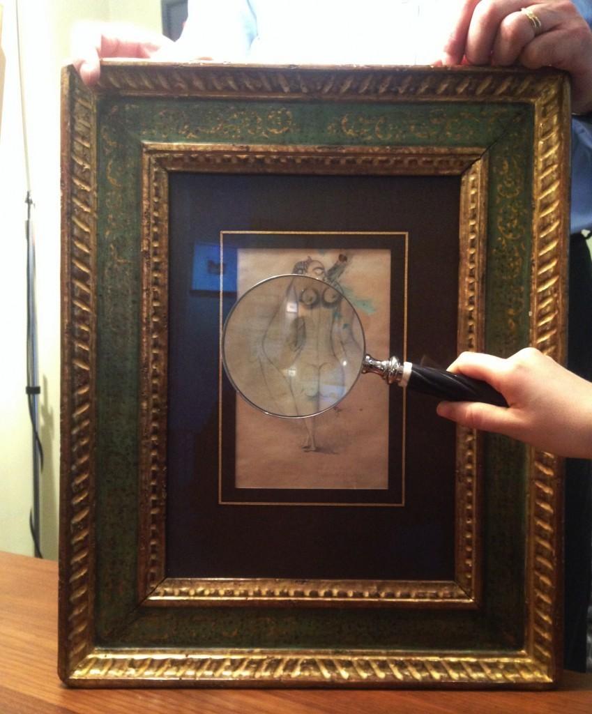 VICTOR BRAUNER - Ohne Titel, Gouache u. Graphite/Papier, 21,5 x 13,5 cm, bezeichnet, signiert und datiert, 12.4.1941 Foto: Courtesy of Barnebys
