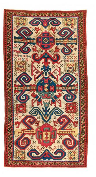 Proto Perepedil, Wolle, 255 x 135 cm, Kaukasus, 18. Jhdt. Schätzpreis: 45.000 - 65.000 EUR