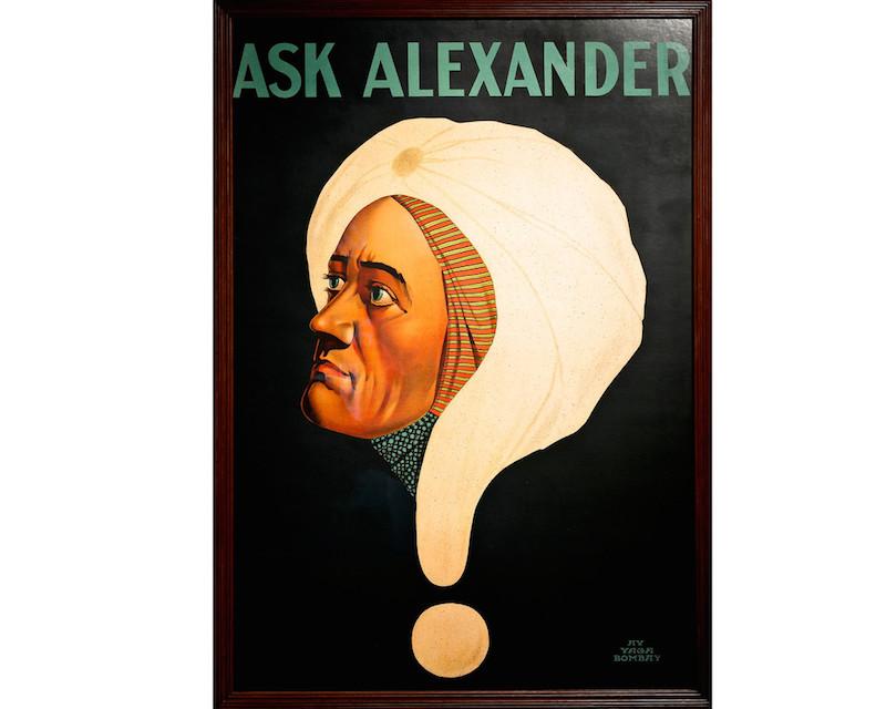 'Ask Alexander' Illusionist Poster, 1915. Orginalposter. Köp direkt hos Luke Honey