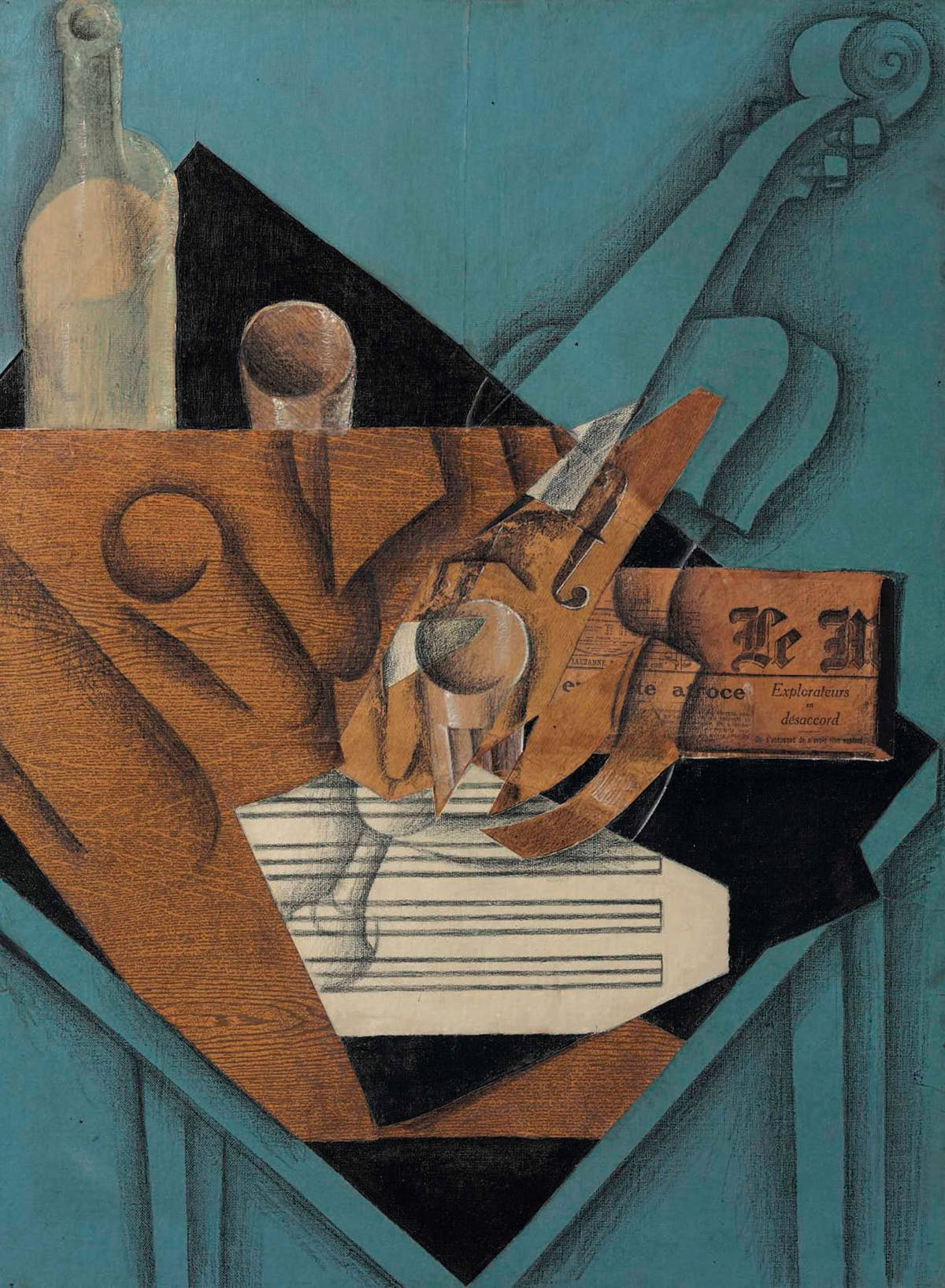 JUAN GRIS. La table de musicien (1914). Imagen vía: Christie's