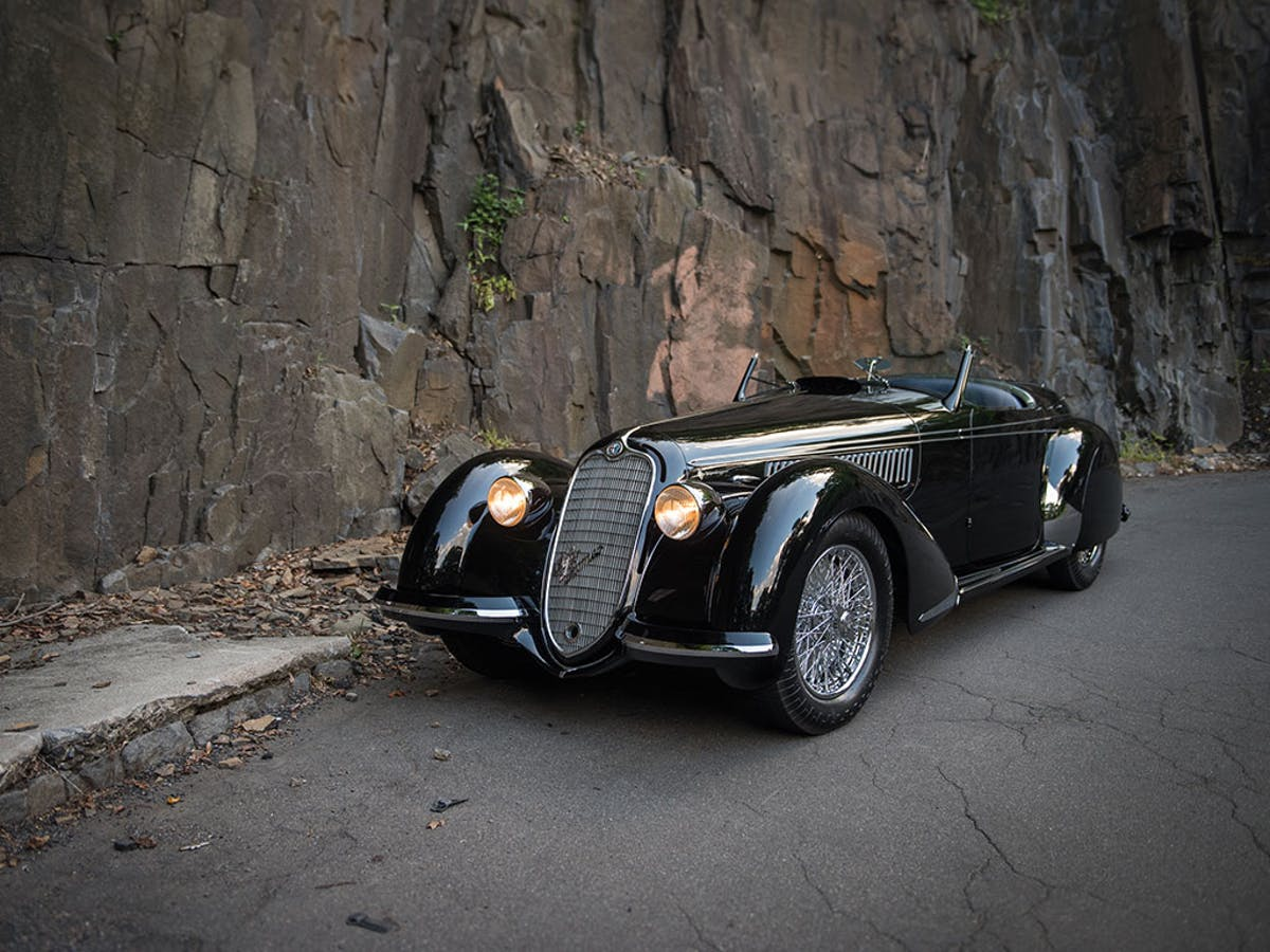 Alfa Romeo 8C 2900B Lungo Spider by Touring, 1939, image ©Sotheby's