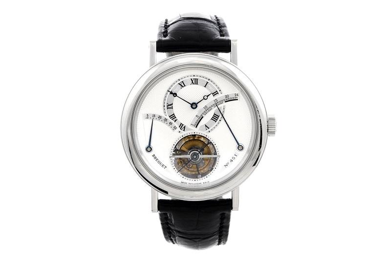 Reloj de pulsera BREGUET Grande Complication Tourbillon en platino para caballero