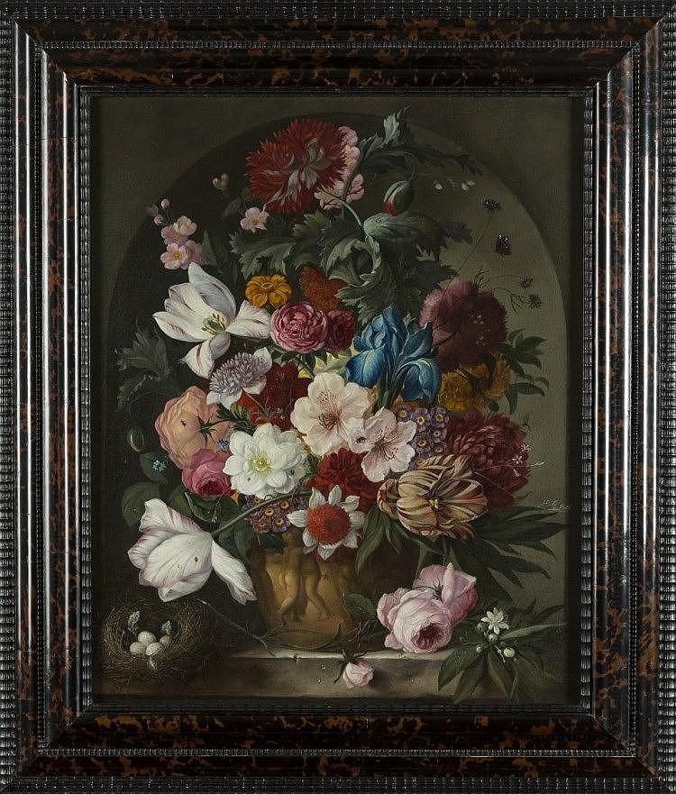 Jan Van Huysum (suiveur de) Nature morte avec fleurs Loeckx