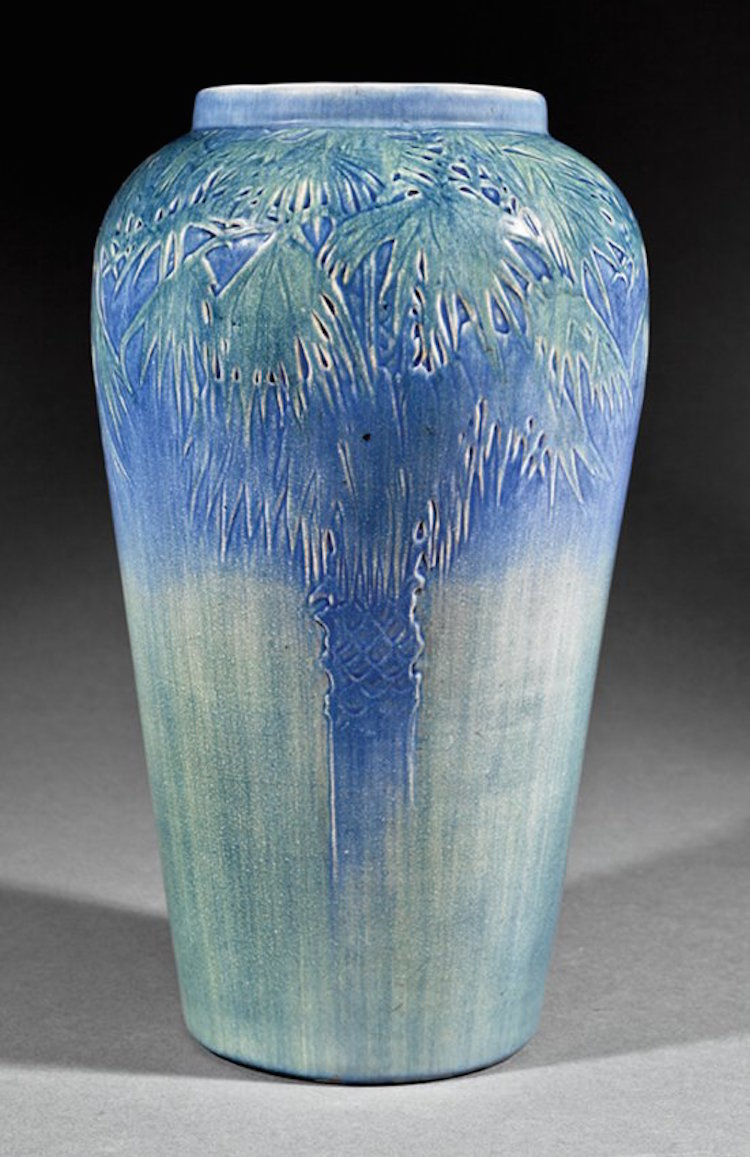 A Newcomb College Art Pottery Vase. Estimate $15,000 – $25,000. Photo via Neal Auction Company