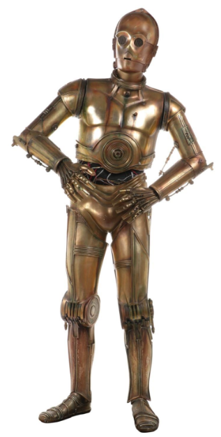 """Industrial Light and Magic life-size """"C-3PO"""" from Star Wars"""