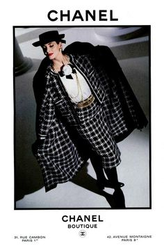 A 1984 ad for Chanel designed by Lagerfeld