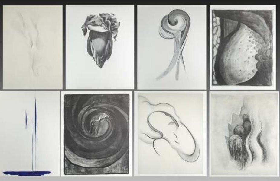 GEORGIA O'KEEFFE. Portafolio de dibujos (1915-1943).