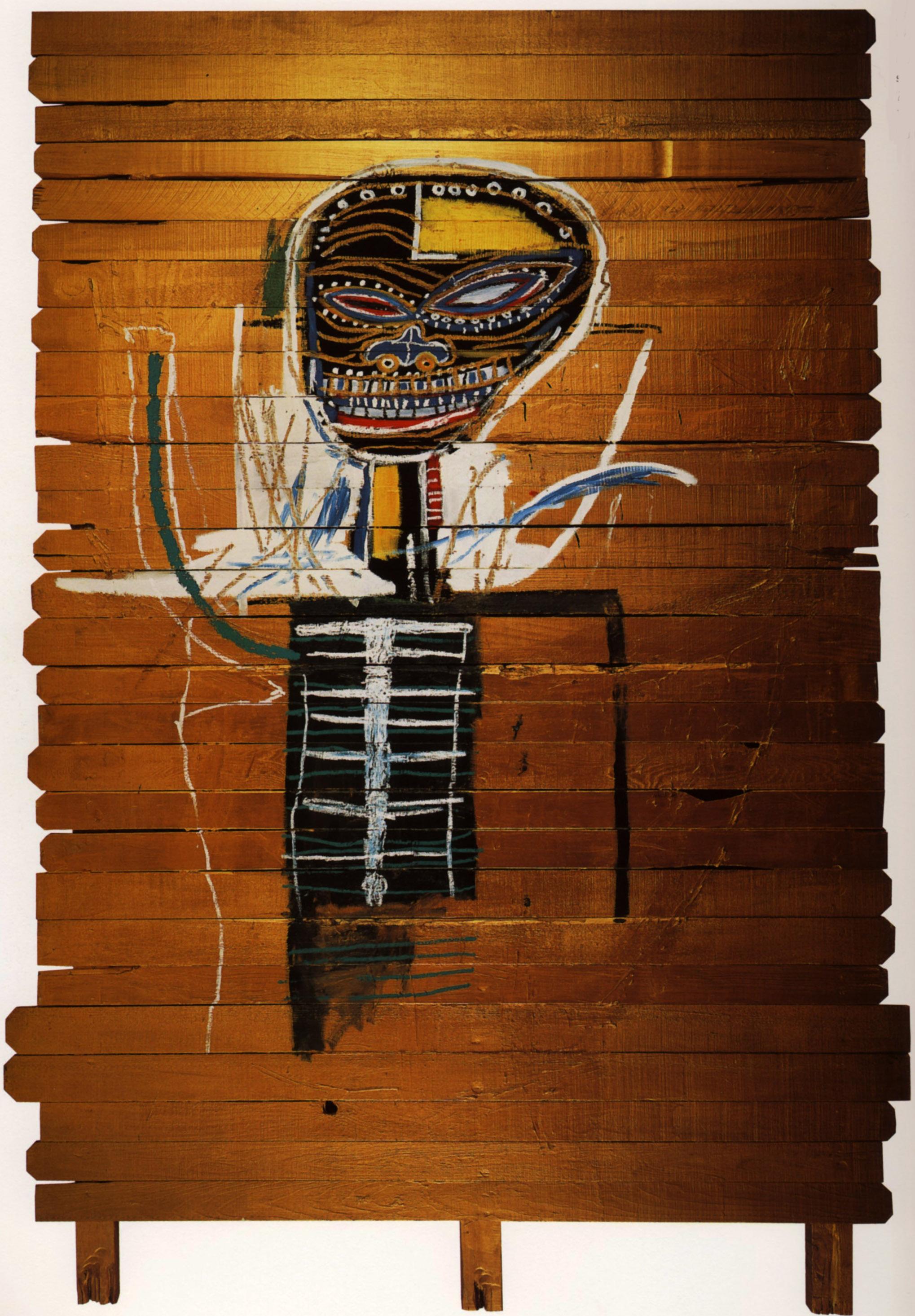 Jean-Michel Basquiat, Gold Griot, 1984 Image via Sotheby's