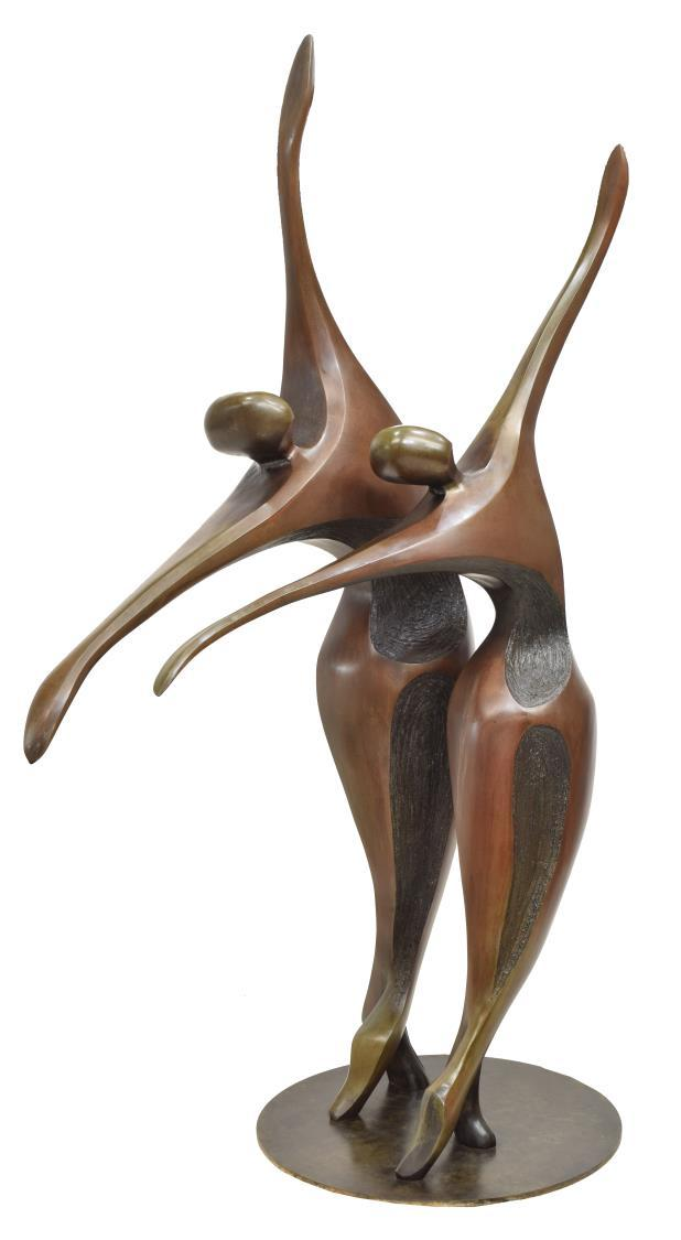 """""""Ballet Dancers,"""" by Robert X. Holmes, from Austin Auction Gallery"""