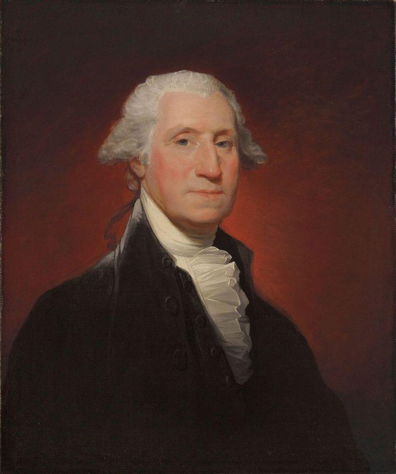 Gilbert Stuarts portätt av den amerikanske presidenten är det första av tre som konstnären målade