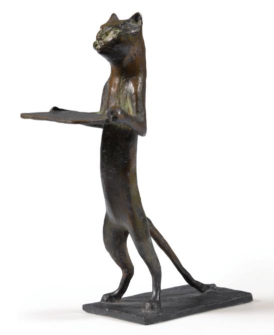 Diego Giacometti, Chat Maître d'Hôtel, 1961 Image via Sotheby's