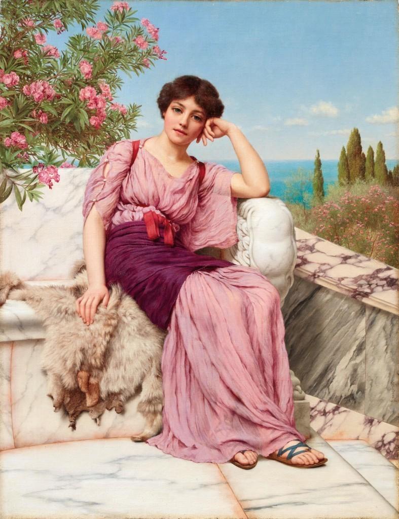 John William Godward, 'Dolci sogni', olio su tela. Immagine: Dorotheum