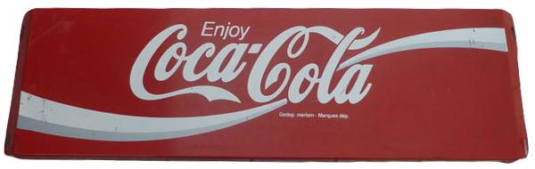 Plaque publicitaire Coca-Cola en métal, années 1970