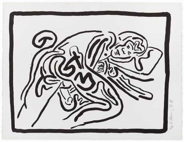 Keith Haring, Screenprint, From 'Bad Boys', USA, 1986 Auctionata