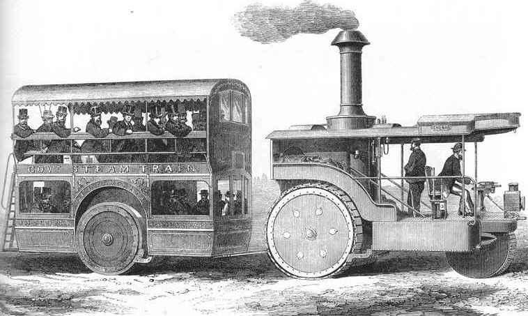 Road Steamer, um 1870