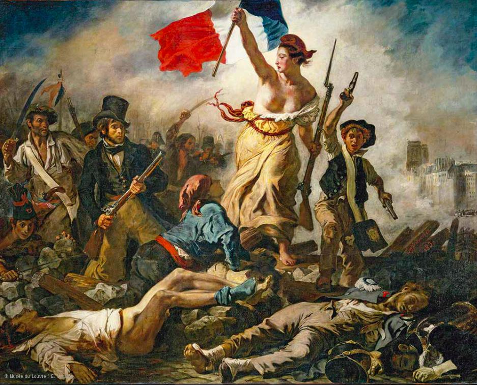 Eugène Delacroix, La Liberté guidant le peuple, 1830, musée du Louvre © Musée du Louvre/E. Lessing