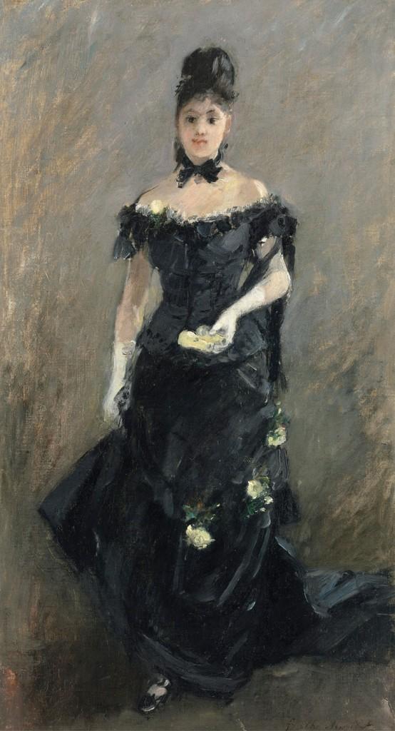 BERTHE MORISOT - Femme en noir, 1875 Abb.: Christie's