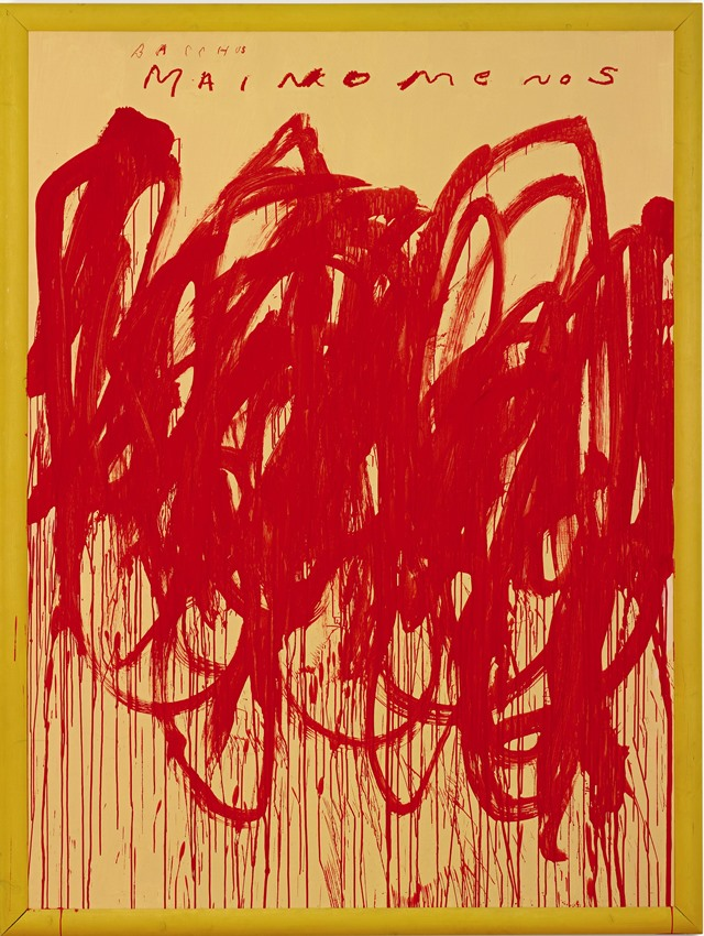 Cy Twombly, Untitled (Bacchus 1st Version V) 2004 Image: Sotheby's