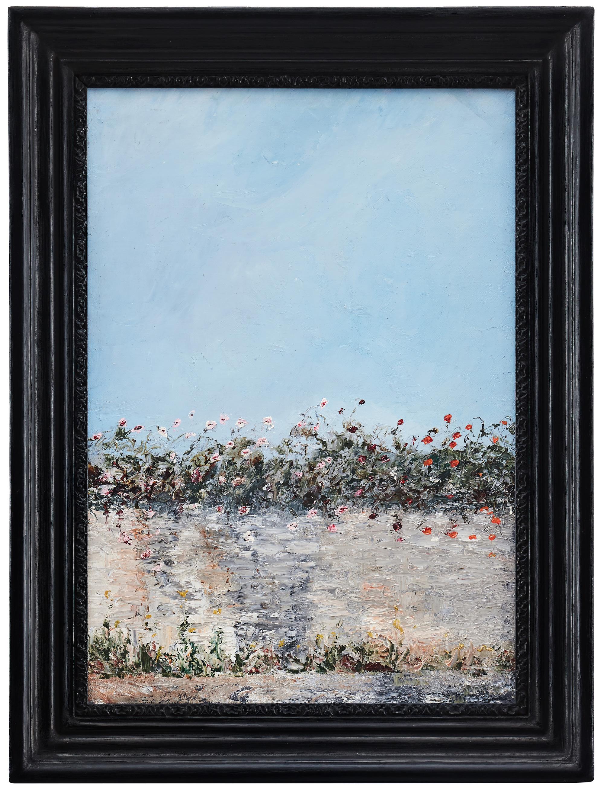"""August Strindbergs """"Blommande mur"""" utgör kronjuvelen i samlingen. Oljemålningen tros vara utförd 1903 och är utställd på såväl Tate Moderns uppmärksammade utställning som den på Göteborgs Konstmuseum för några år sedan. Utropspris  är 4-6 miljoner kronor."""