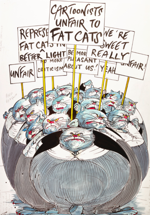 Gerald Scarfe, Cartoonist Unfair to Fat Cats