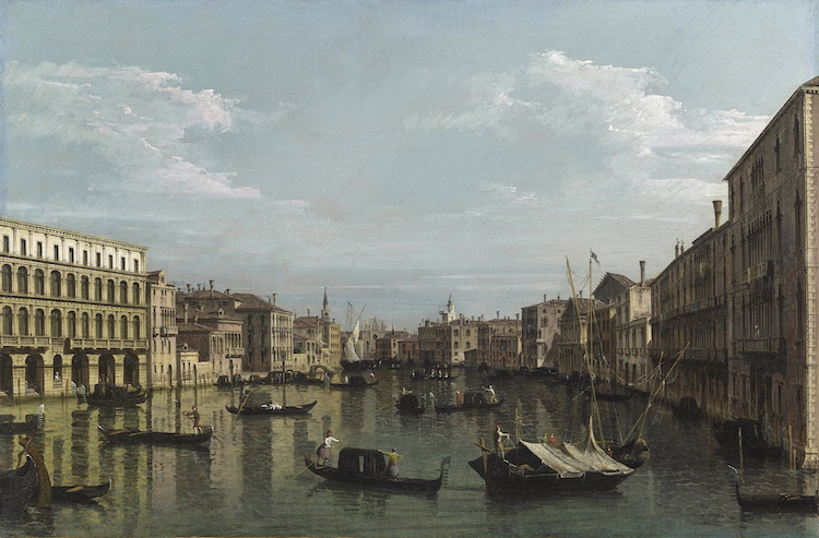 Bernardo Bellotto - A view of the Grand Canal