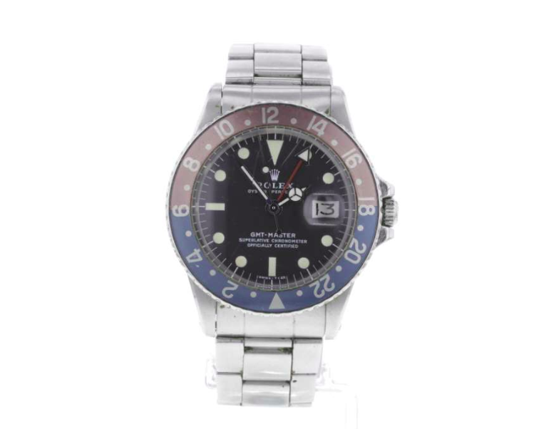 ROLEX - Oyster Perpetual Montre GMT-Master «Pepsi» pour homme, acier inoxydable, vers 1973, image ©Fellows