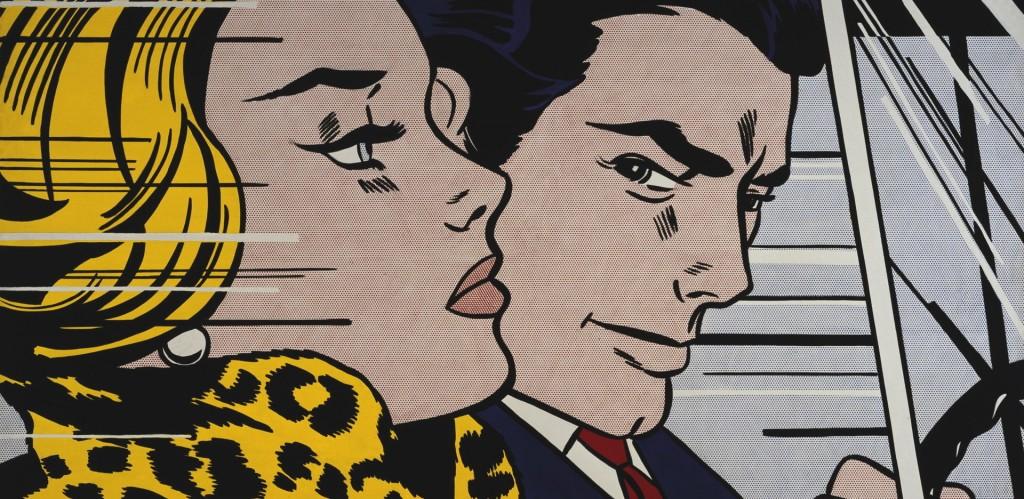 Roy Lichtenstein, 'In the Car', 1963, parte della collezione dello Scottish National Gallery of Modern Art.