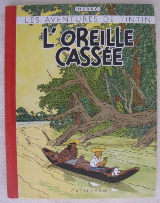 Tintin T6 - L'Oreille Cassée - C - Alternative Edition Without Colors (1943)